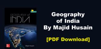 Geography of India By Majid Husain PDF