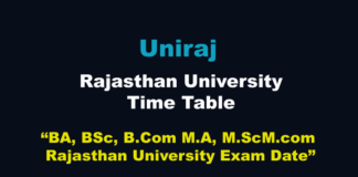 Uniraj Time Table