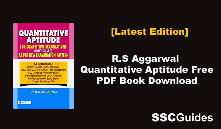Quantitative aptitude books pdf