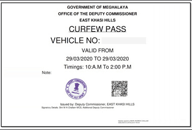 curfew e-pass demo