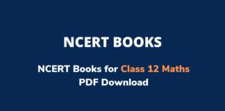 NCERT Books for Class 12 Maths PDF Download