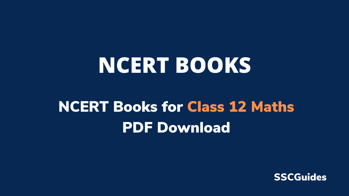 NCERT Books for Class 12 Maths PDF Download